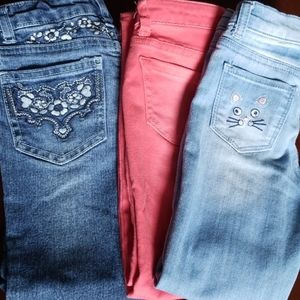 3 pair of girls pants size 6